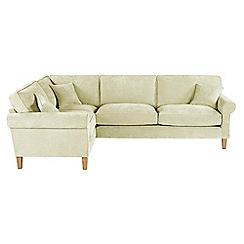 Debenhams - Velour 'Delta' left-hand facing corner sofa