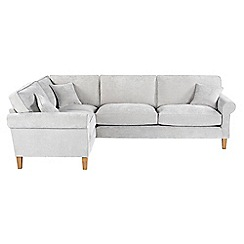 Debenhams - Velour 'Delta' left-hand facing corner sofa
