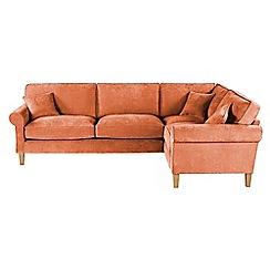 Debenhams - Velour 'Delta' right-hand facing corner sofa