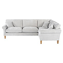 Debenhams - Velour 'Delta' right-hand facing corner sofa