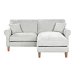 Debenhams - Velour 'Delta' chaise corner sofa