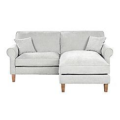 Debenhams - 'Delta' chaise corner sofa