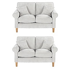 Debenhams - Set of 2 medium velour 'Delta' sofas