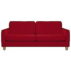 Debenhams - Extra-large flat weave fabric 'Dante' sofa