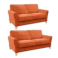 Debenhams - Set of large and medium velour 'Fyfield' sofas