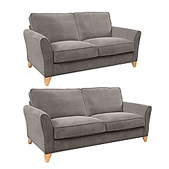 Debenhams - Set of large and medium velour 'Fyfield' sofas