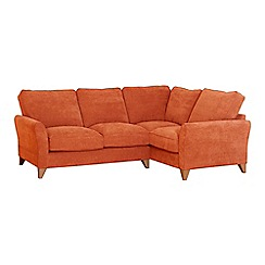 Debenhams - Velour 'Fyfield' right-hand facing corner sofa