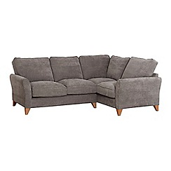 Debenhams - Velour 'Fyfield' right-hand facing corner sofa
