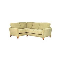 Debenhams - Velour 'Fyfield' left-hand facing corner sofa