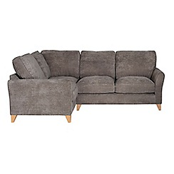 Debenhams - Velour 'Fyfield' left-hand facing corner sofa