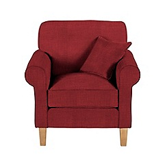 Debenhams - Flat weave fabric 'Delta' armchair