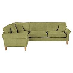 Debenhams - Flat weave fabric 'Delta' left-hand facing corner sofa