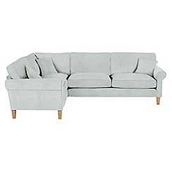 Debenhams - Flat weave fabric 'Delta' left-hand facing corner sofa