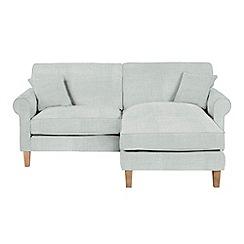 Debenhams - Flat weave fabric 'Delta' chaise corner sofa