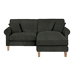 Debenhams - Flat weave fabric 'Delta' chaise corner sofa