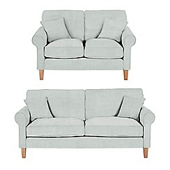 Debenhams - Set of large and medium flat weave fabric 'Delta' sofas