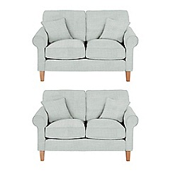 Debenhams - Set of 2 medium flat weave fabric 'Delta' sofas