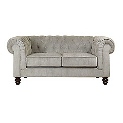 Debenhams - Small velour 'Chesterfield' sofa