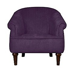 Debenhams - Velour 'Chesterfield' armchair