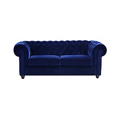 Debenhams - Large velvet 'Chesterfield' sofa bed