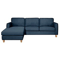 Debenhams - Flat weave fabric 'Dante' left-hand facing chaise corner sofa