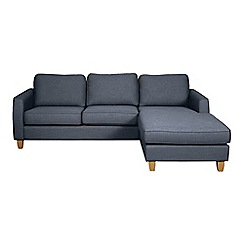 Debenhams - Flat weave fabric 'Dante' right-hand facing chaise corner sofa