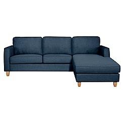 Debenhams - Flat weave fabric 'Dante' right-hand facing chaise corner sofa