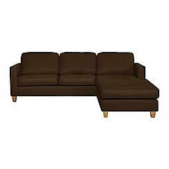 Debenhams - Leather 'Dante' right-hand facing chaise corner sofa