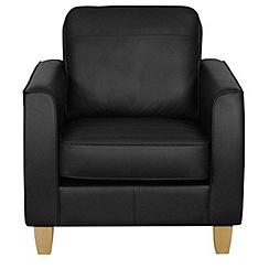 Debenhams - Leather 'Dante' armchair