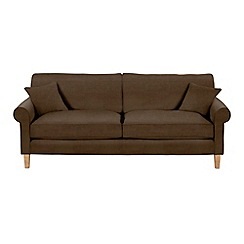 Debenhams - Extra-large leather-look 'Delta' sofa