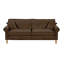 Debenhams - Extra-large leather-look 'Delta' sofa