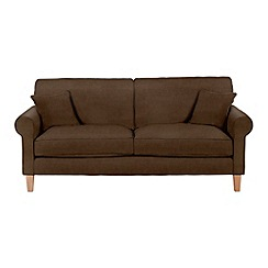 Debenhams - Large leather-look 'Delta' sofa