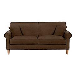 Debenhams - Large leather-look 'Delta' sofa