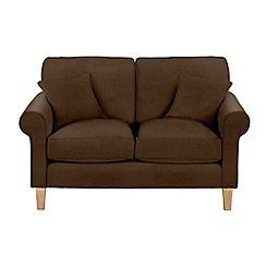 Debenhams - Medium leather-look 'Delta' sofa