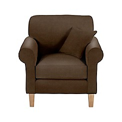 Debenhams - Leather-look 'Delta' armchair