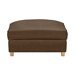 Debenhams - Leather-look 'Delta' footstool
