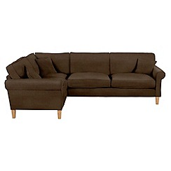 Debenhams - Leather-look 'Delta' left-hand facing corner sofa