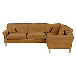Debenhams - Leather-look 'Delta' right-hand facing corner sofa
