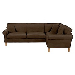 Debenhams - Leather-look 'Delta' right-hand facing corner sofa