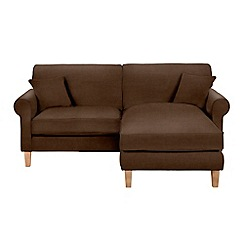 Debenhams - Leather-look 'Delta' chaise corner sofa
