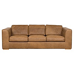 Debenhams - Extra-large tan leather 'Paris' sofa