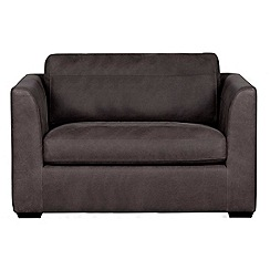 Debenhams - Leather 'Paris' loveseat