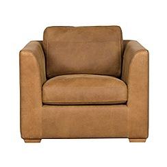 Debenhams - Tan leather 'Paris' armchair