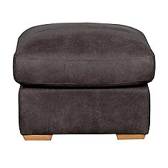 Debenhams - Leather 'Paris' footstool