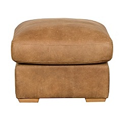 Debenhams - Tan leather 'Paris' footstool