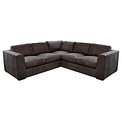 Debenhams - Medium leather 'Paris' corner sofa