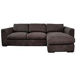 Debenhams - Leather 'Paris' right-hand facing chaise corner sofa