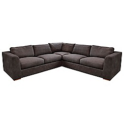 Debenhams - Large leather 'Paris' corner sofa