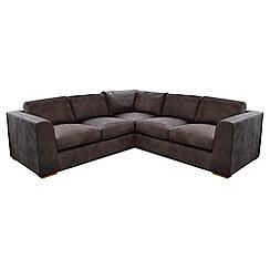 Debenhams - Medium leather 'Paris' corner sofa