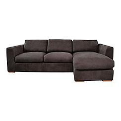Debenhams - Leather 'Paris' right-hand facing chaise corner sofa